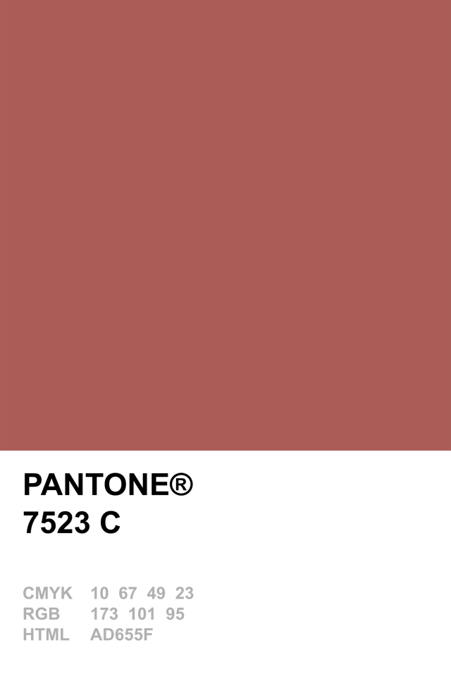 Pantone 7523 C. Masala. Pantone colour of the year 2015
