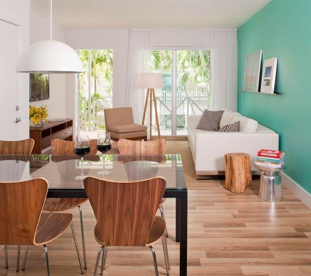 T rkis wand wohnzimmer wohnideen kr ftig farbige w nde for Farbige wandgestaltung wohnzimmer
