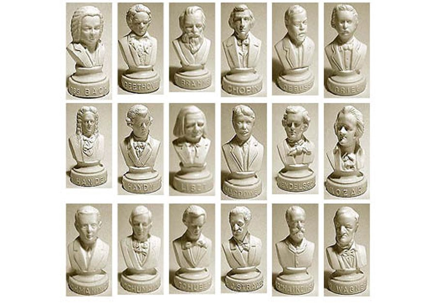 HALBE COMPOSER STATUETTES COMPLETE Set of 18 - These ...