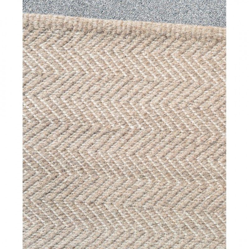 Herringbone Floor Rug In Granite And Ecruthe Block Channel 9