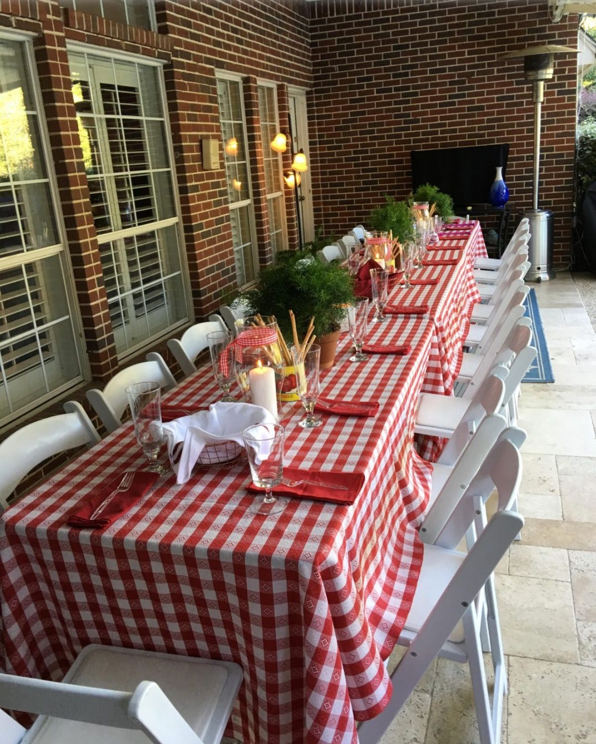 Italian Themed Dinner Cute Table Decor From Mix And Match Mama