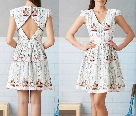 Resultado de imagen para vestido escote triangular patrones