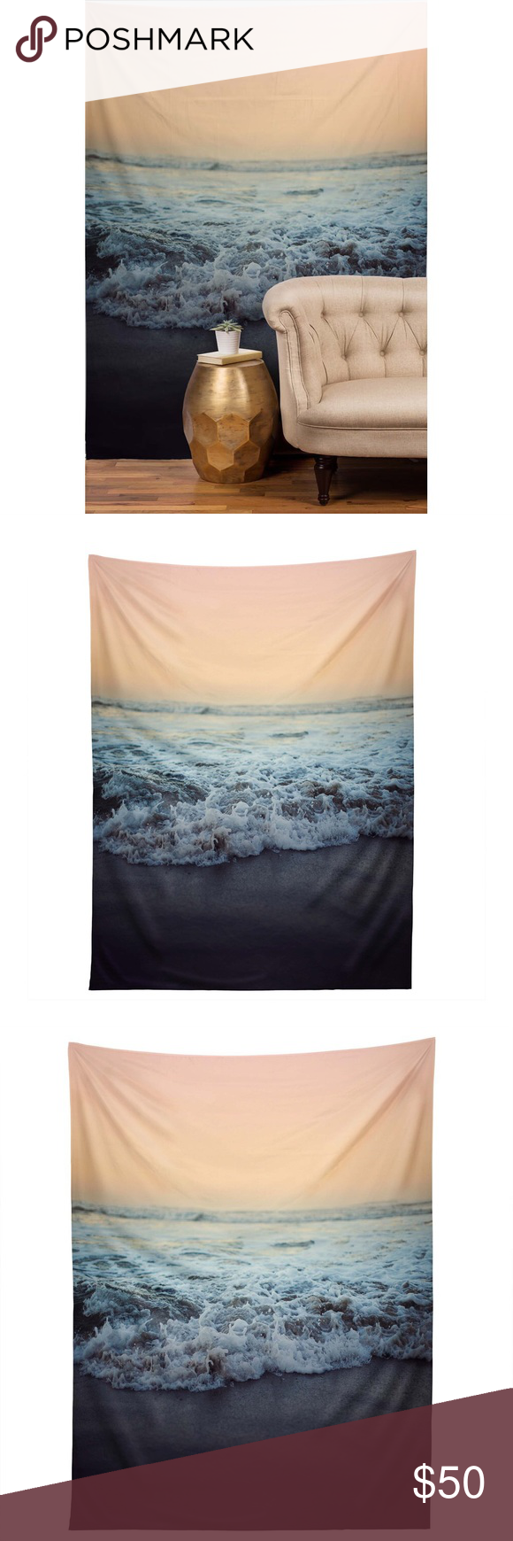 Crash Into Me ocean wall art tapestry Like new condition. Beautiful. I love this but it just doesn't fit in my new space. My loss is your gain! Urban Outfitters Other