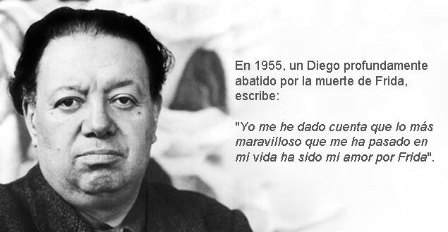 Poema De Diego Rivera A Frida Kahlo Diego Rivera Despues De La Muerte De Frida Frase De Frida Kahlo