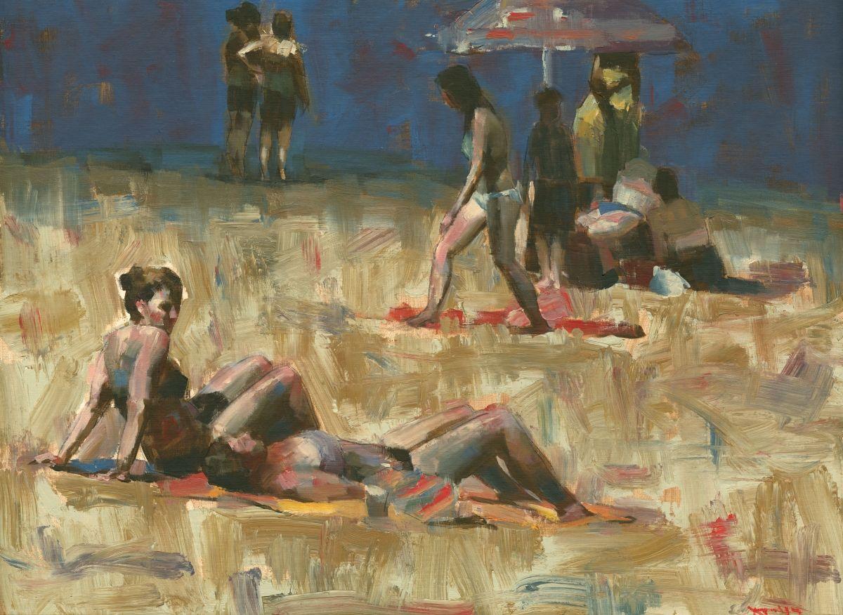 "Contemporary - ""Beach No.2 (large)"" (Original Art from Darren Thompson Fine Art)"