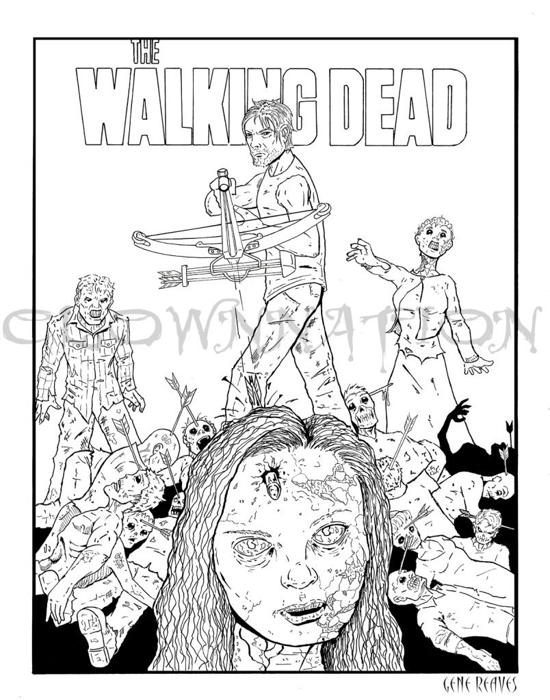 walking dead coloring pages to