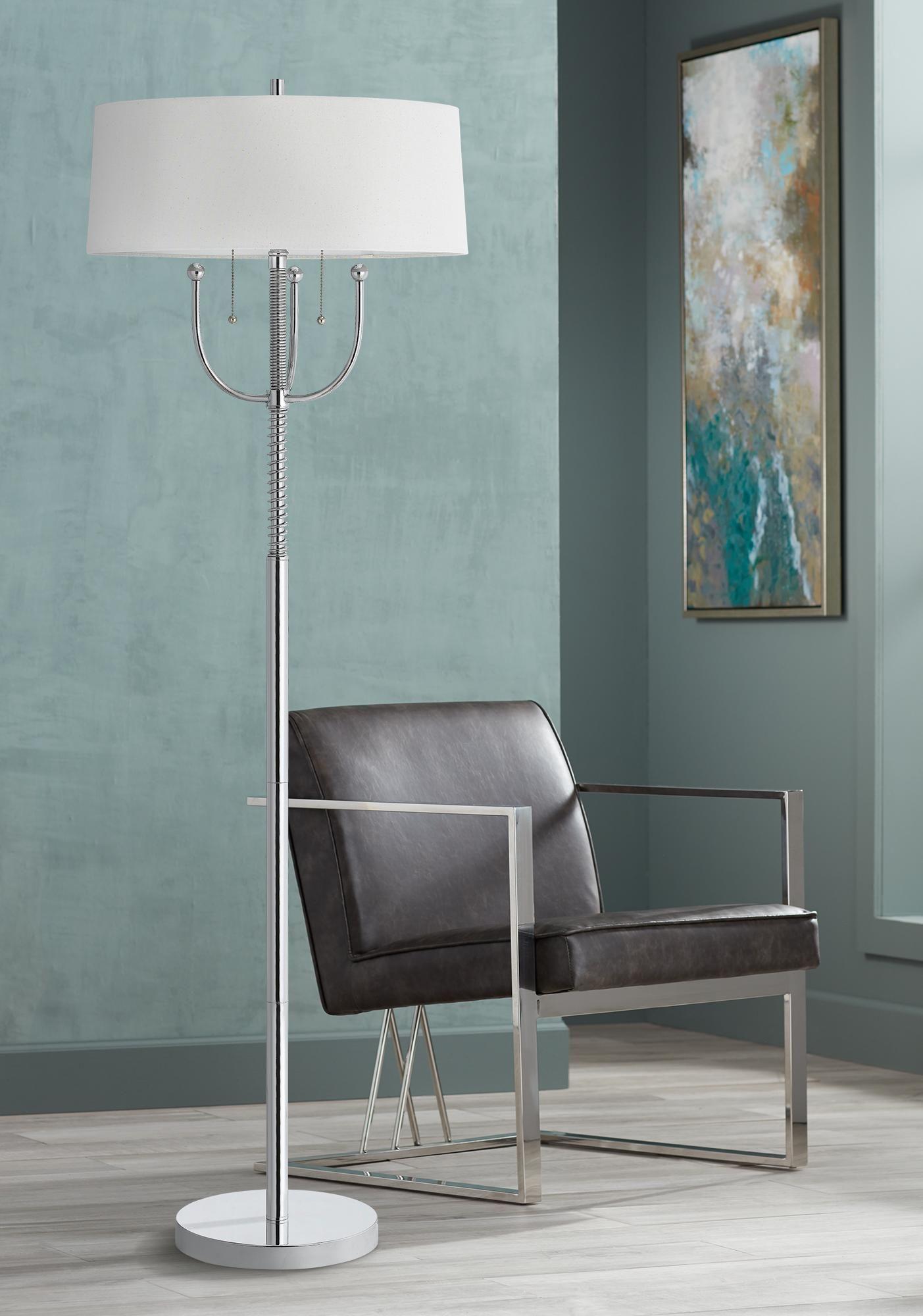 Floor Lamps Lesina Chrome Metal 2 Light Floor Lamp In 2020 Floor Lights Floor Lamp Lamp