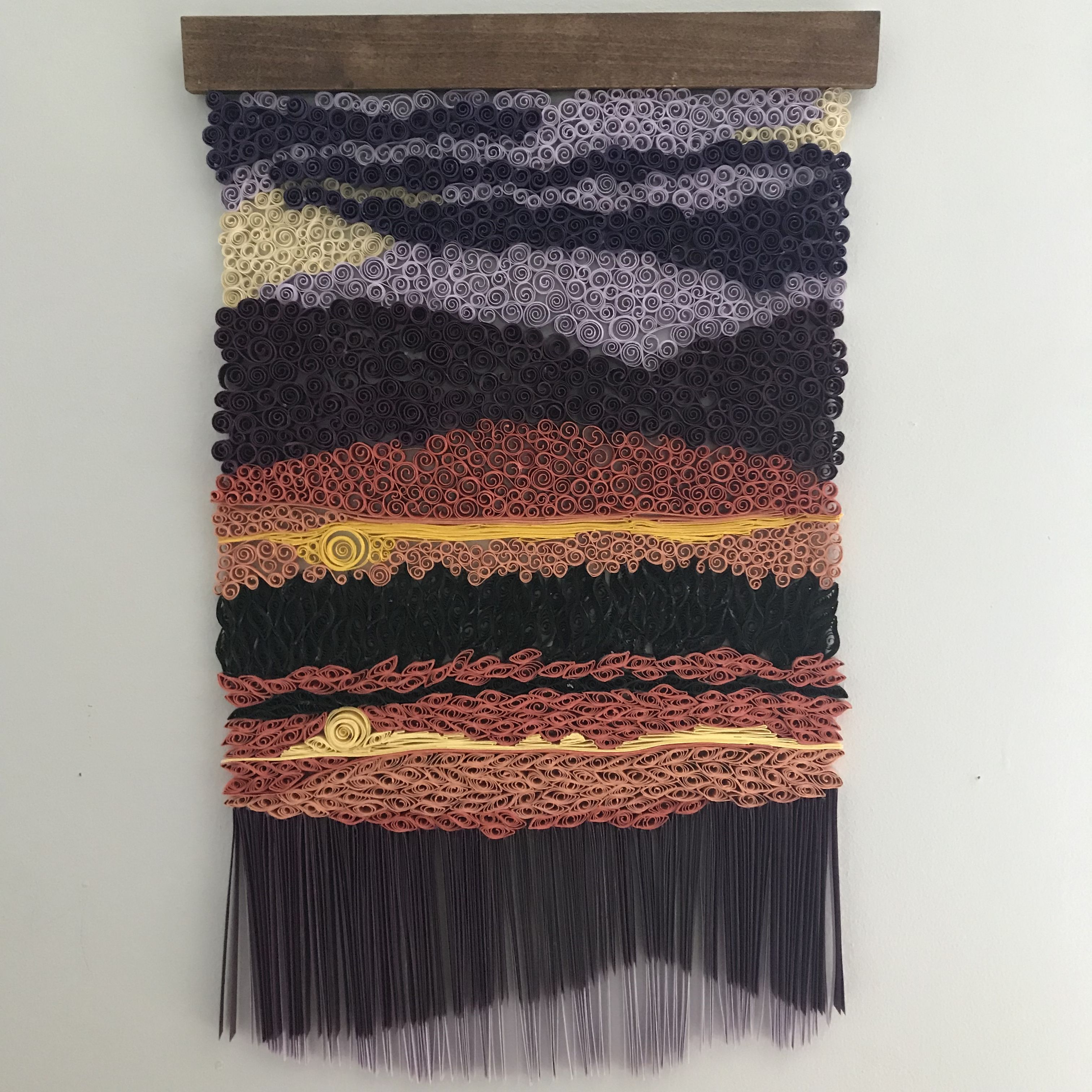I Make Custom Landscape Sunset Quilled Paper Tapestry Wall