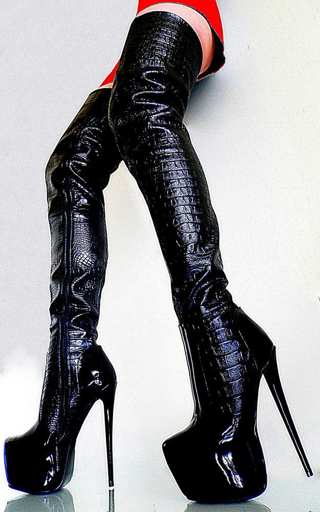 UNIQUE MADE IN ITALY HIGH HEELS SEXY BOOTS DAMEN STIEFEL LEATHERETTE SCHWARZ 37