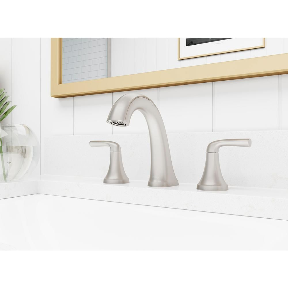 100 Pfister Ladera 8 In Widespread 2 Handle Bathroom Faucet In Spot Defense Brushed Nickel Bathroom Faucets Faucet Pfister