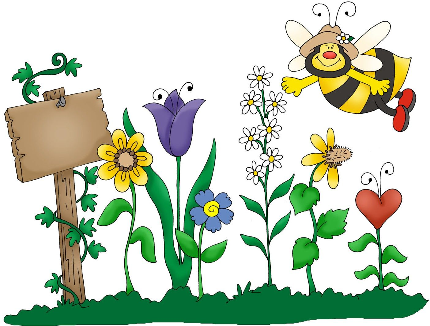 Gardening Clipart Free Clipart Images Clipartix Garden Clipart Free Clip Art Bee Garden