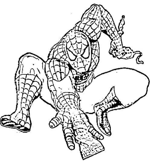 Spiderman Attack Enemies Coloring Pages Spiderman Spiderman Lego Dibujos