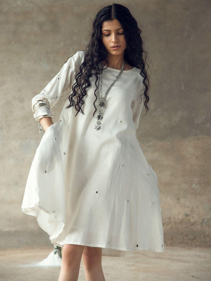 White Swing Dress With Pockets In 2020 Swing Dress With Pockets Dresses Swing Dress