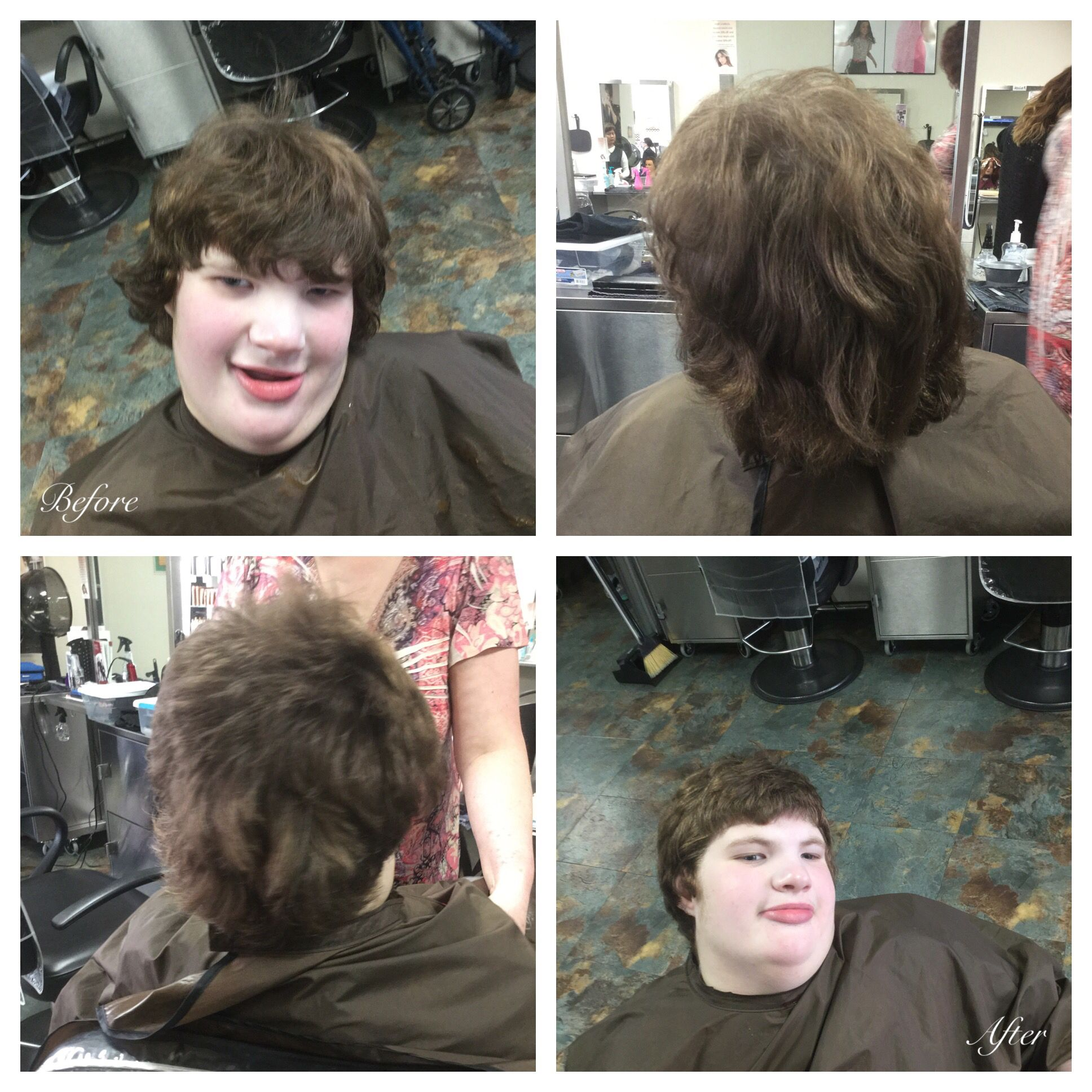 Straight perm solution - 90 Degree Haircut Took 1 1 2 Off
