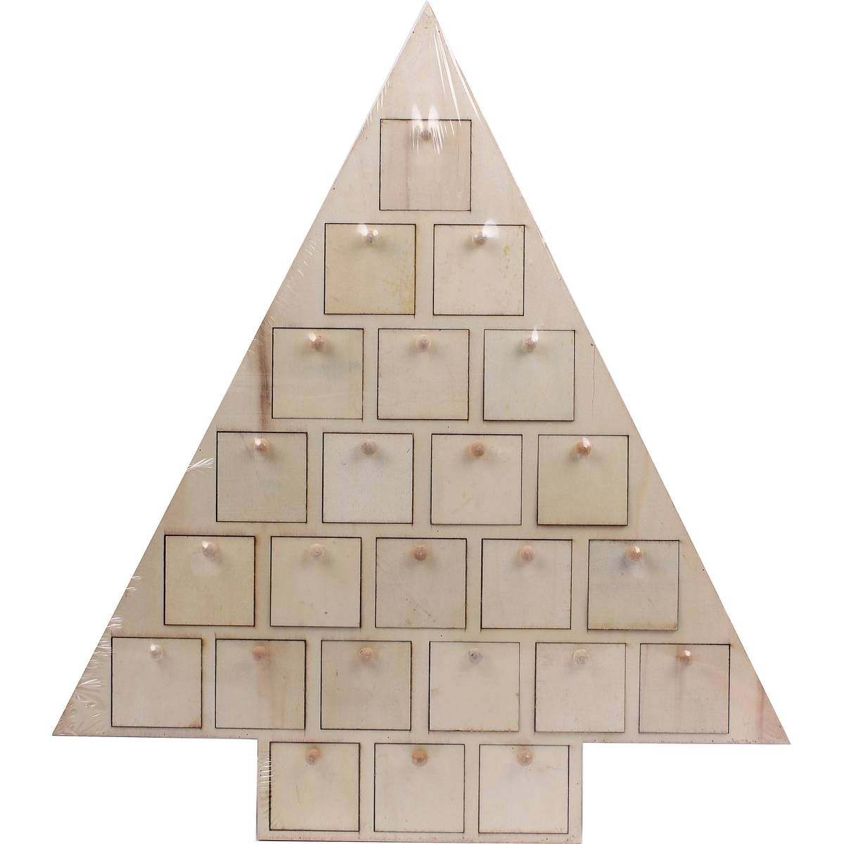 Wooden advent calendar christmas tree hobbycraft for my shop christmas advent calendars at hobbycraft make your own personalised advent calendar with our fab range of diy wooden advent houses solutioingenieria Images
