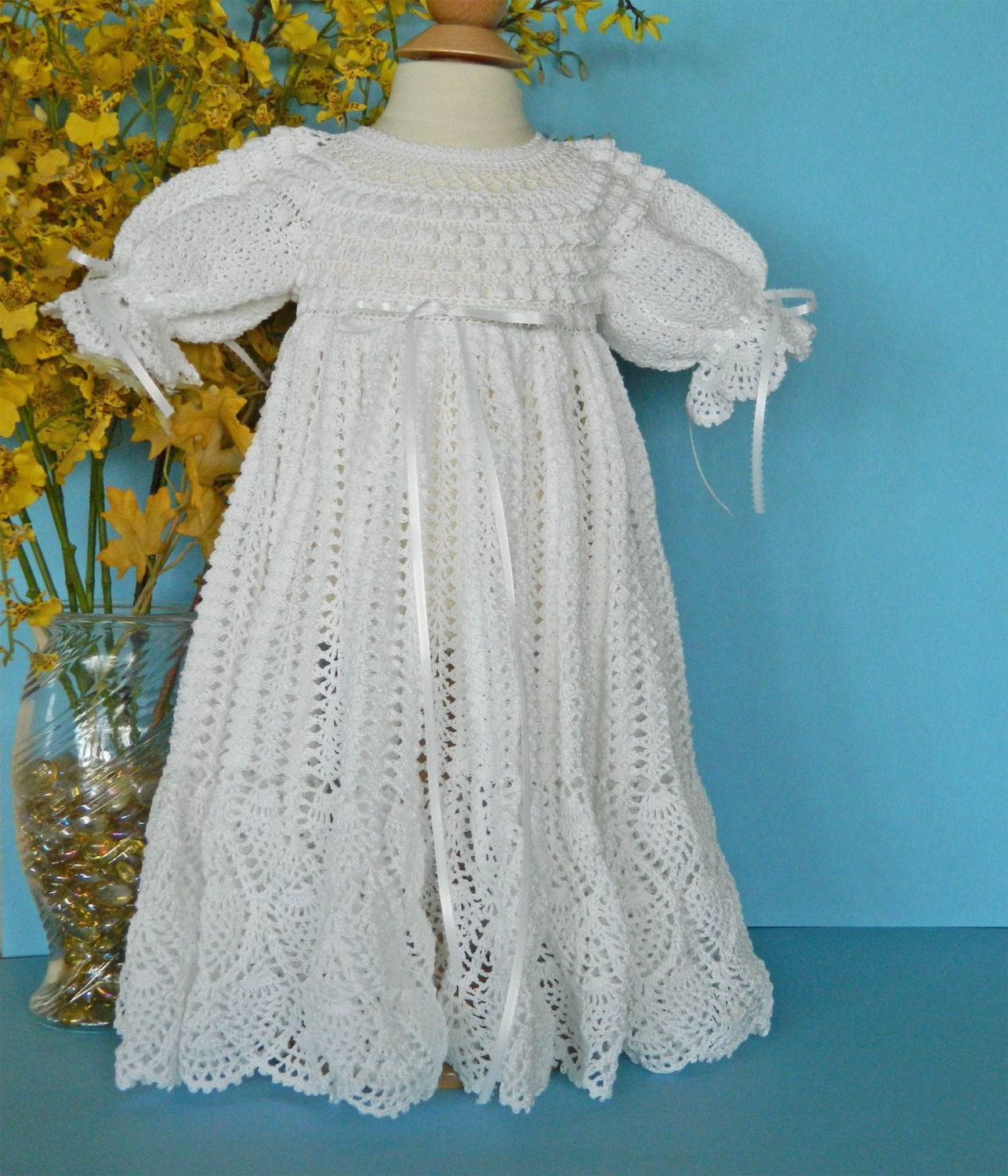 White Christening Blessing Gown Baby Dress READY TO SHIP