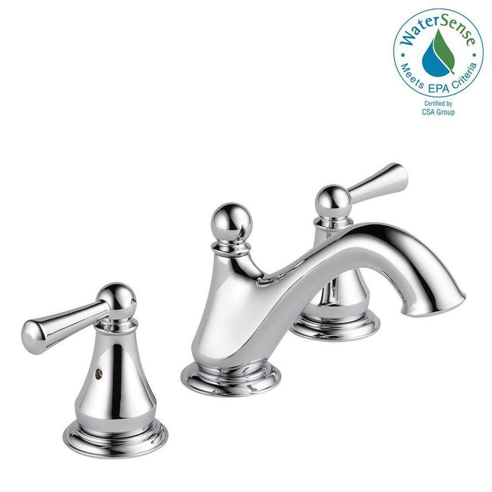 Delta Haywood 8 in. Widespread 2-Handle Bathroom Faucet in Chrome ...