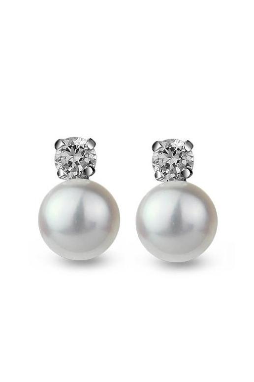 Pearl Earrings White Aaa Freshwater
