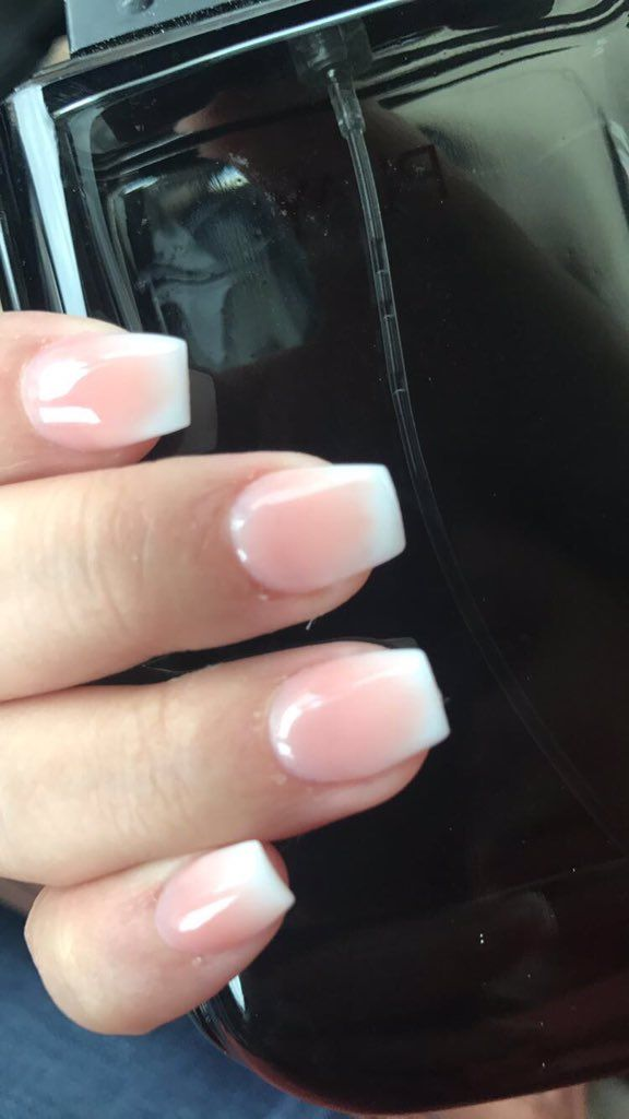 Hombre French Tip Nails | Nails | Pinterest