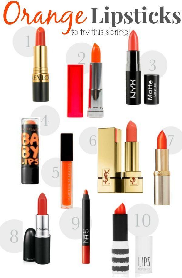 orange lipstick to try this spring