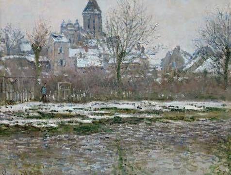 Fine Art Reproduction Effet De Neige A Vetheuil Ou Eglise