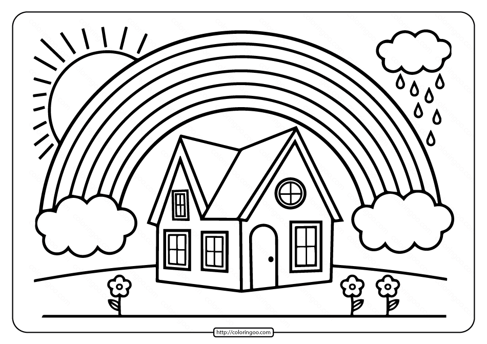 Printable Rainbow Coloring Book For Kids In 2021 Coloring Books Painted Books Coloring Pages