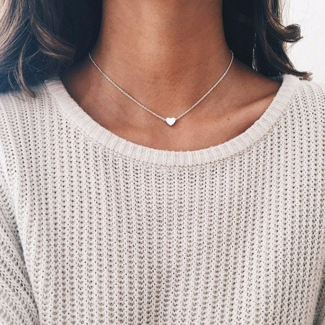 Photo of Bohemian Moon Star Crystal Heart Choker Necklace for Women Necklace Pendant on neck Chocker Necklace Jewelry Gift – silver