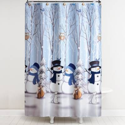 Product Image For Saturday Knight Winter Friends Shower Curtain With Hooks