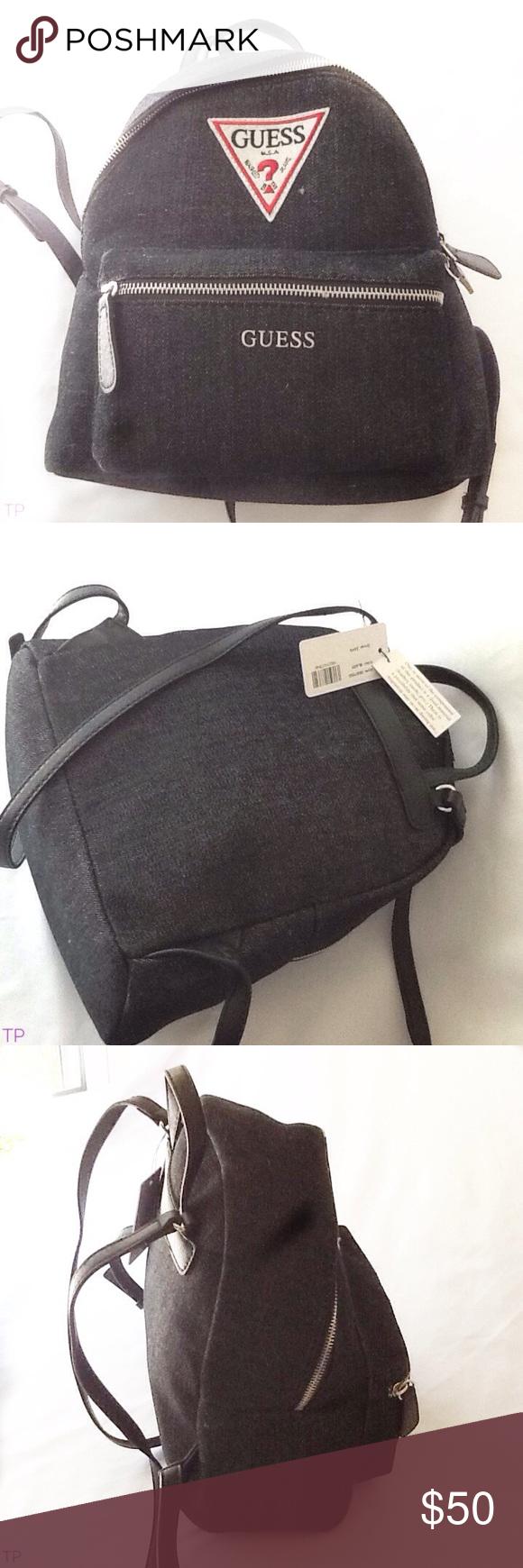 GUESS Zayn Backpack Purse Bag Retro triangle logo NWT Genuine GUESS Zayn Backpack  Purse Bag Retro ed48eb7569