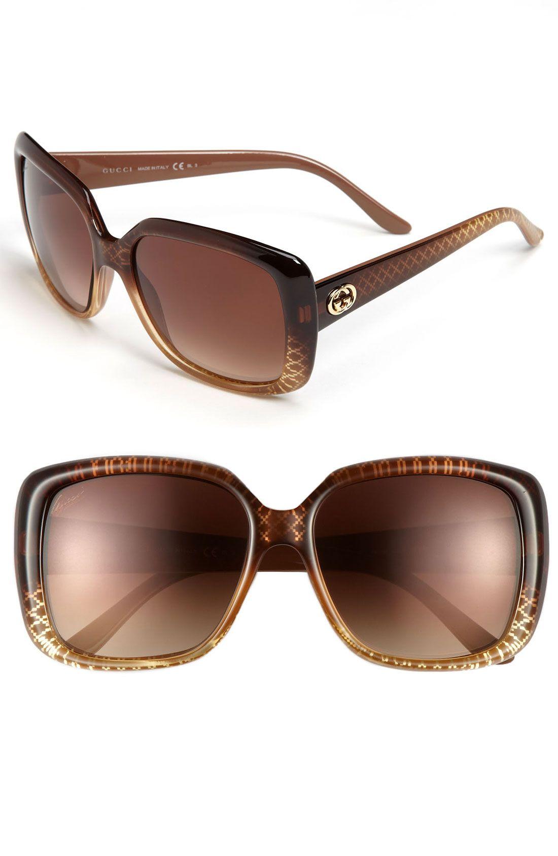 0f96f5dd5e2 Gucci Sunglasses in Brown (cuir gold diamond)