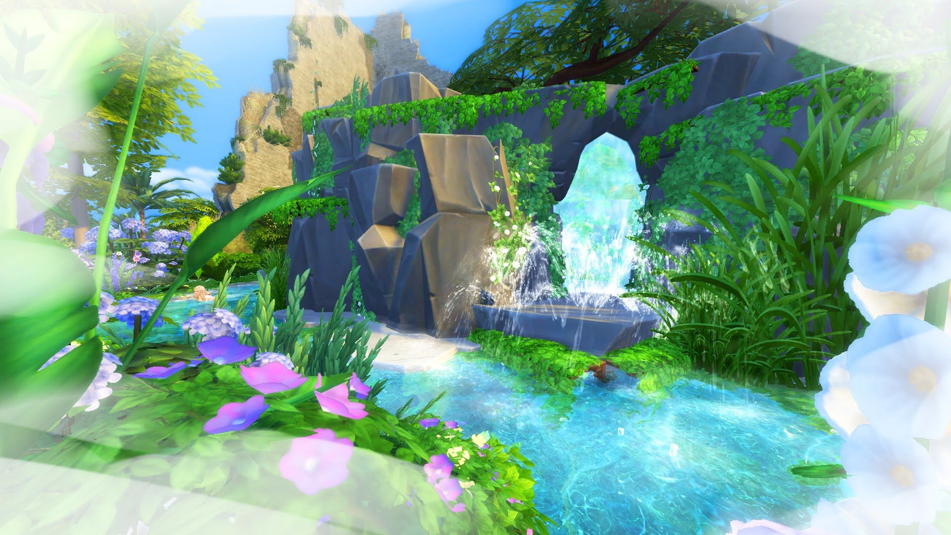 The Sims 4: Calypso's Island Cave // Complete Speed Build