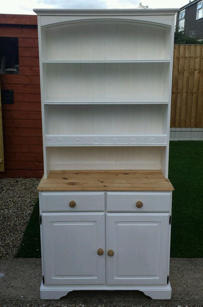 Pine Shabby Chic Welsh Dresser Display Cabinet