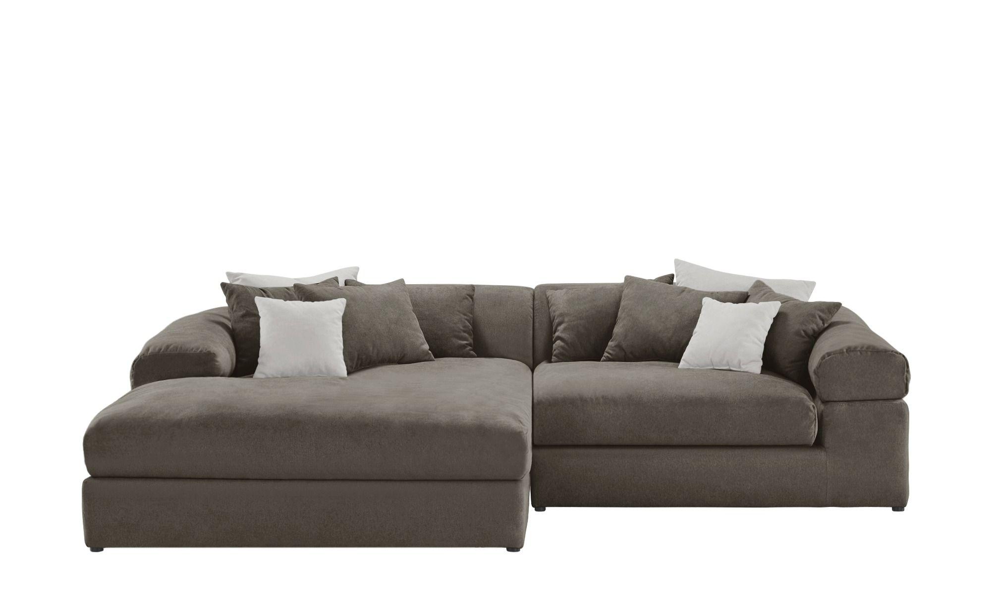 Smart Ecksofa Grau Silbergrau Flachgewebe Lianea Sofa Ecksofa Big Sofa Kaufen
