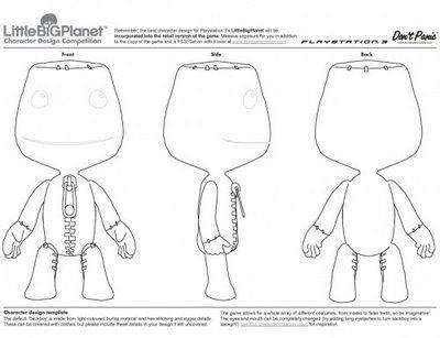 Littlebig Planet; Sackboy Template | Character Design | Pinterest ...