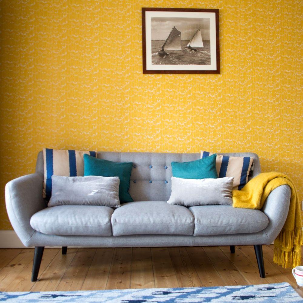 60 Beautiful Wallpaper Room In 2020 Living Room Design Ye