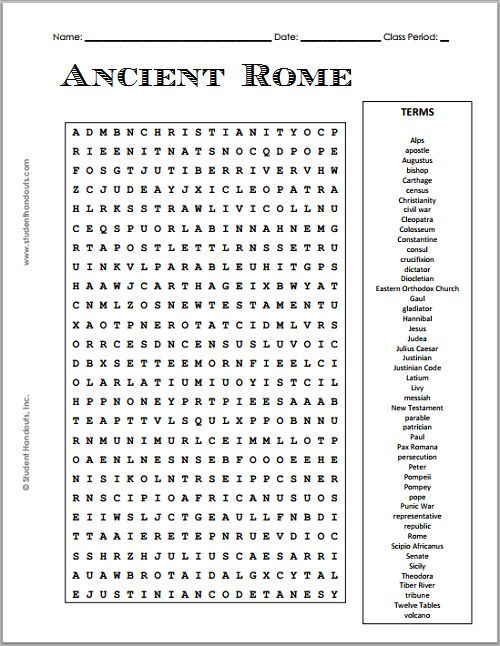 Free Printable Ancient Rome Word Search Puzzle Grades 7 12 Ancient Rome Ancient Rome Projects Ancient Rome Activity