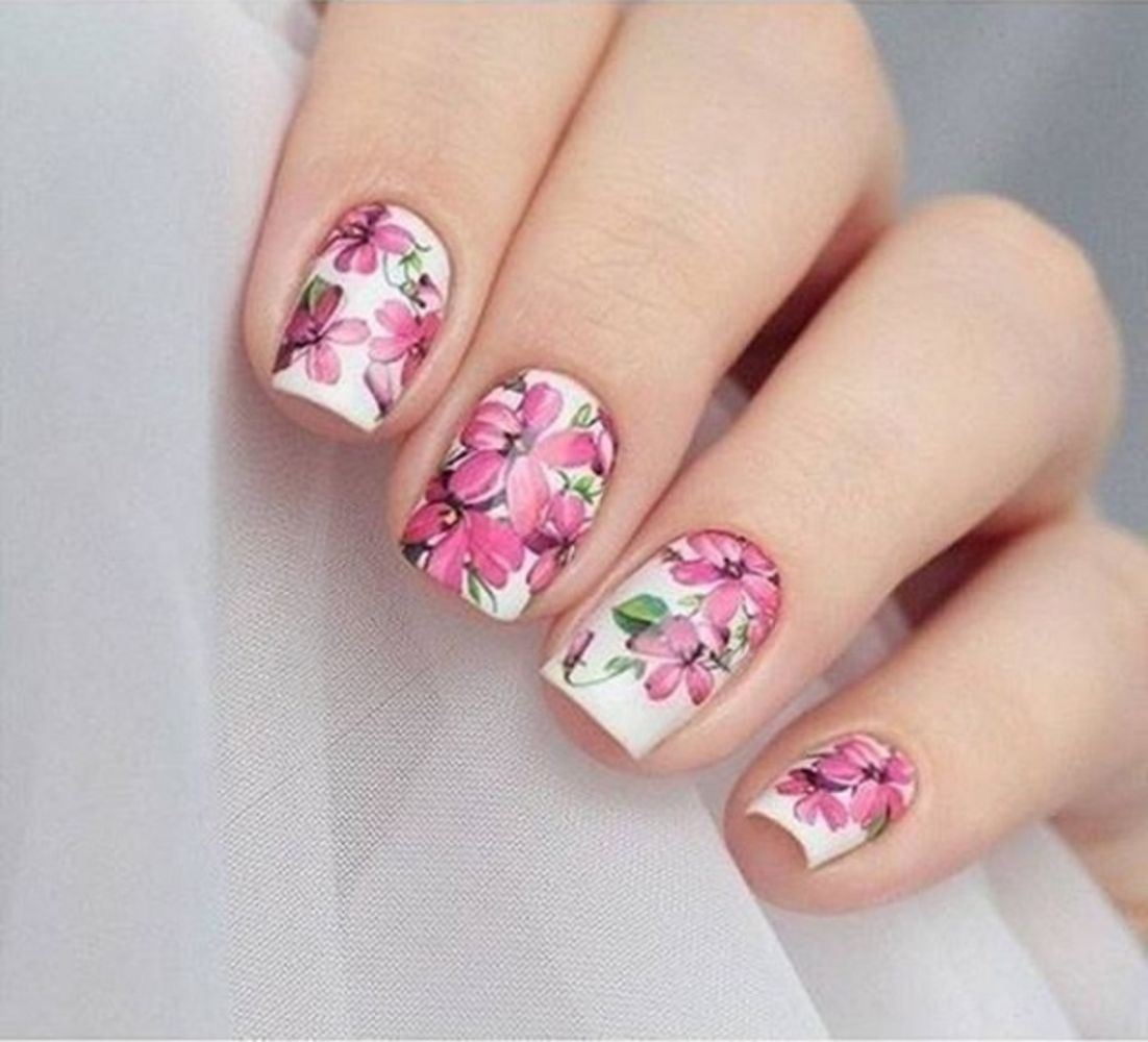 43 Cute And Easy Floral Nail Arts Design