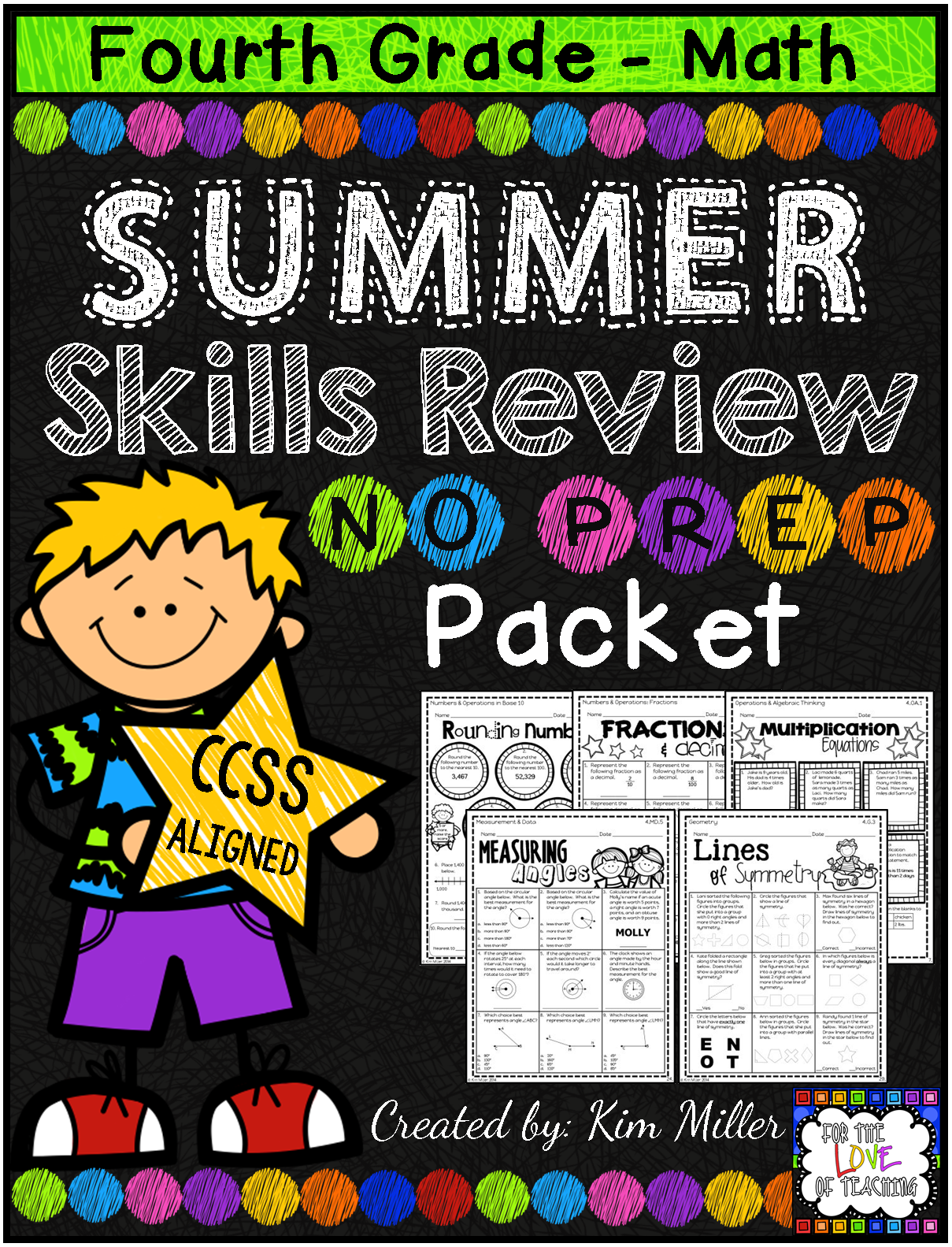 Summer Packet For 4th To 5th Grade