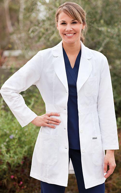 Greys Anatomy 3 Pocket Lab Coat W Back Belt By Barco Uniforms