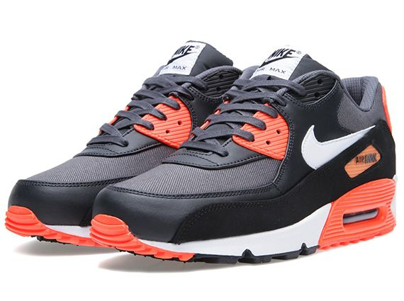 Nike Air Max 90 Dark Grey Black Total Crimson