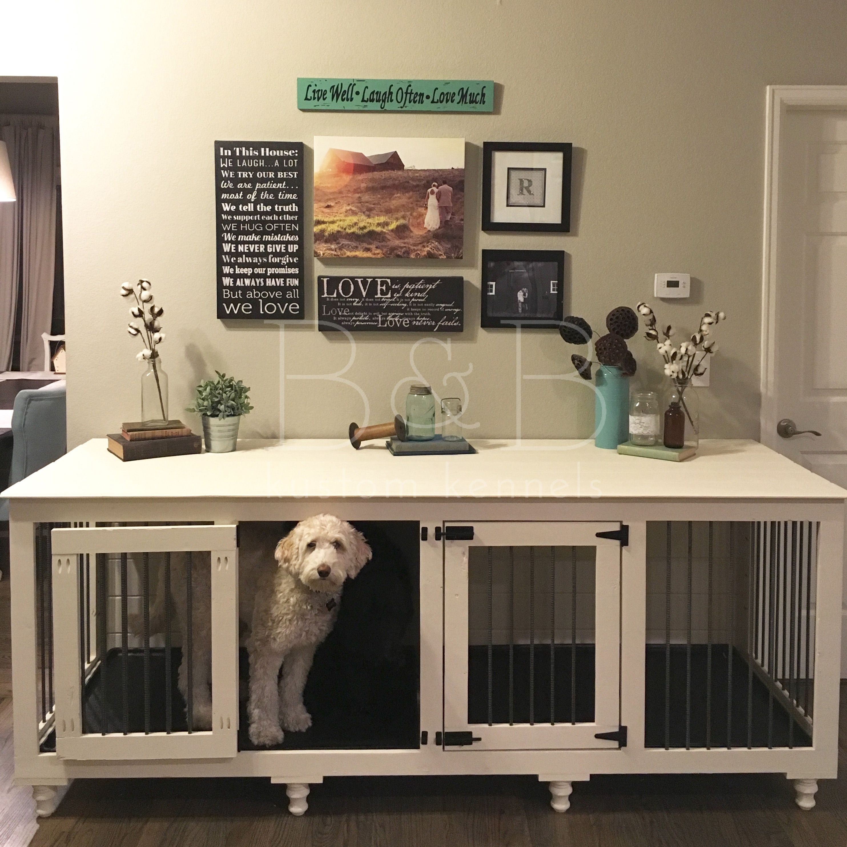 bb kustom kennels cozy living room dogs dog crate furniture rh pinterest com