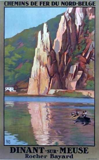 Dinant sur Meuse   Vintage travel poster   #Affiches #Carteles #Viajes #Retro #Europe   http://defharo.com