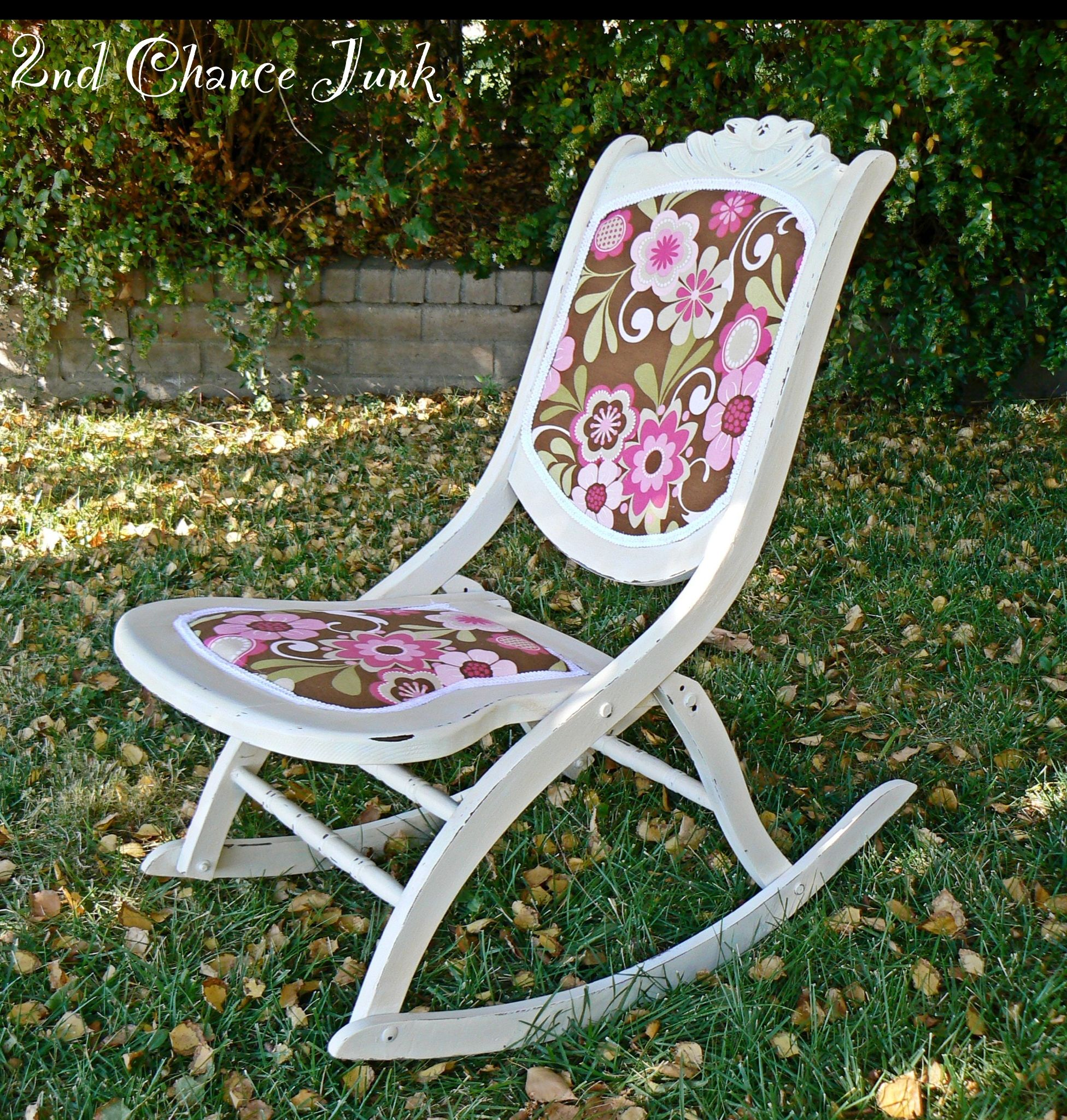 Refurbished Chairs Idea For My Antique Folding Rocking Chair Refurbished