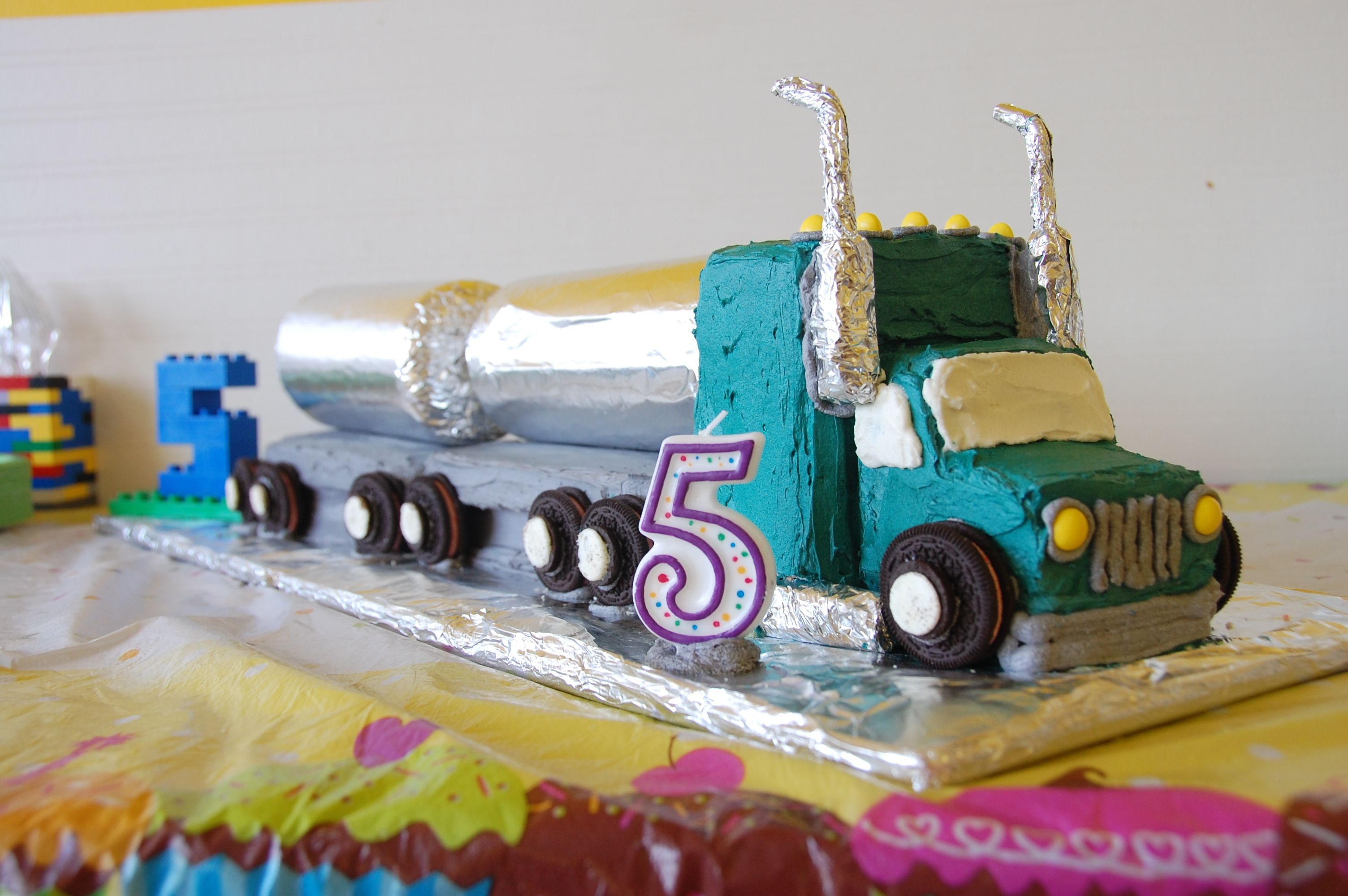 Terrific Tanker Truck Cake With Images 4Th Birthday Cakes Truck Cakes Funny Birthday Cards Online Fluifree Goldxyz