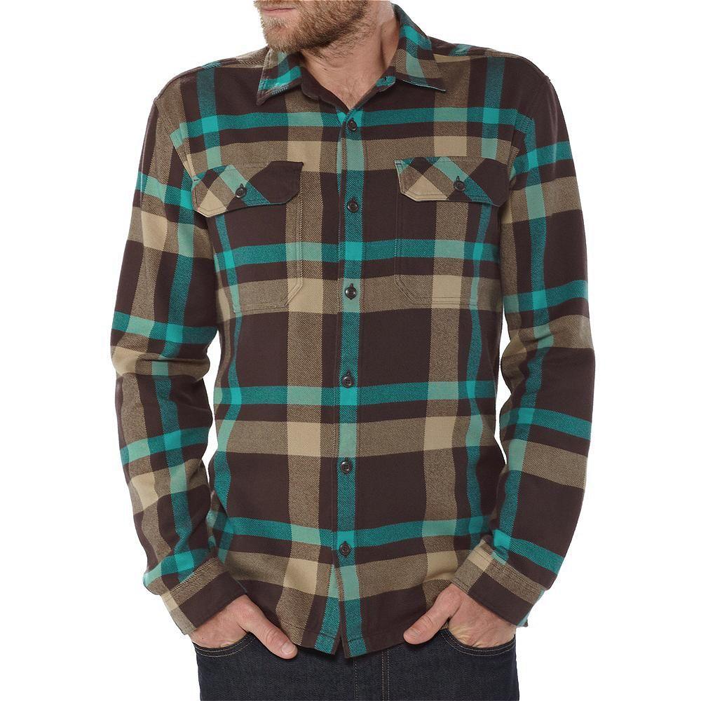 Flannel shirt black  Menus LongSleeved Fjord Flannel Shirt