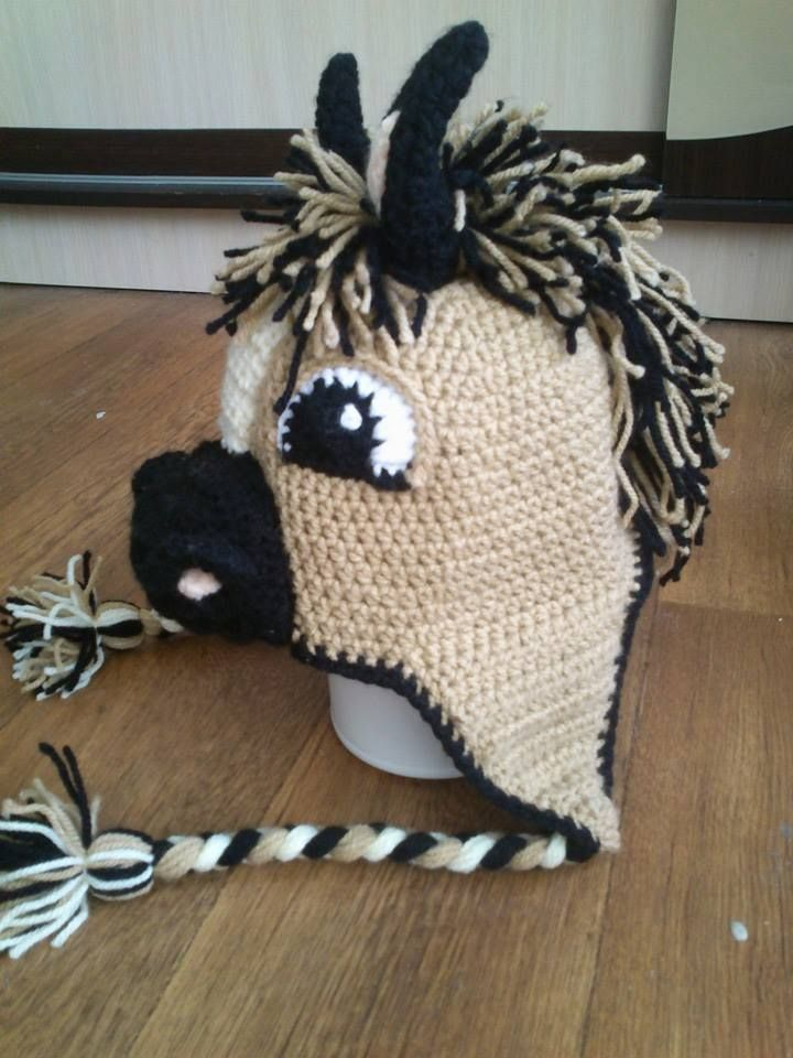 crochet horse hat | Costumes | Pinterest | Häkeln, Stricken und ...