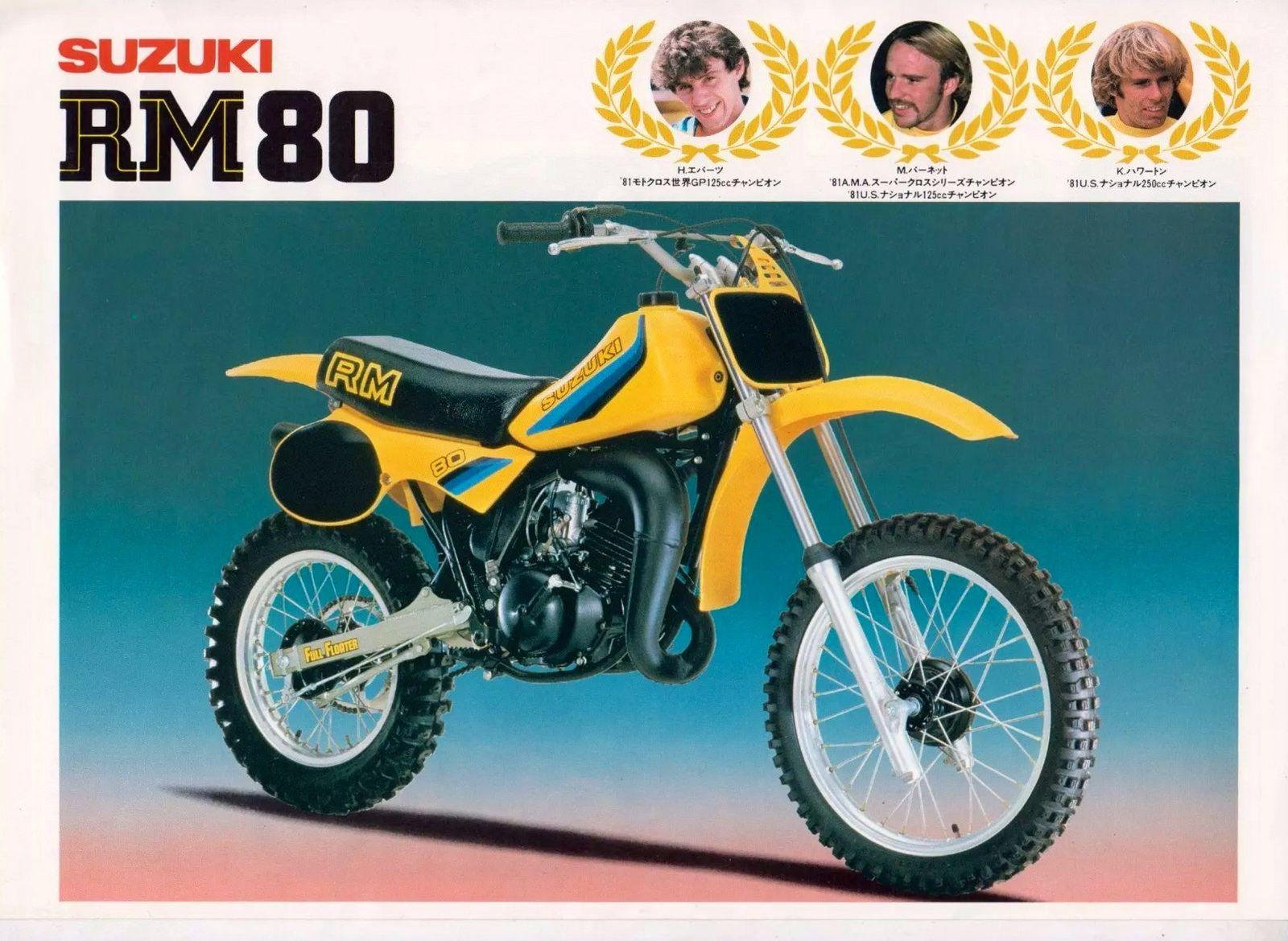 1981 Suzuki Rm80 Brochure Vintage Motocross Motocross Bikes Suzuki