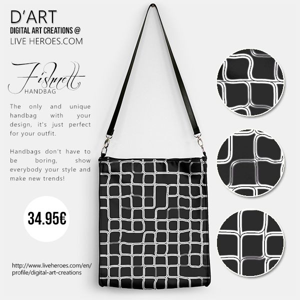 Fishnet...  #matrix #mesh #abstract #geometry #polygons #squares #lines #monochromatic #poly #shapes #grid #modern #simple #fishnet #handbag #fashionhandbag #womanhandbag #liveheroes #digitalartcreations