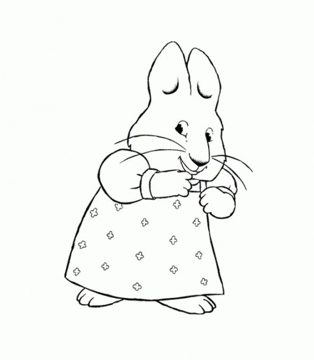 Online Printable Max And Ruby Free Coloring Page