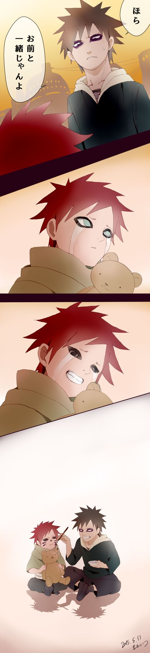 Kankuro and Gaara part2. Brother of the year award goes too... KANKURO OF THE SAND